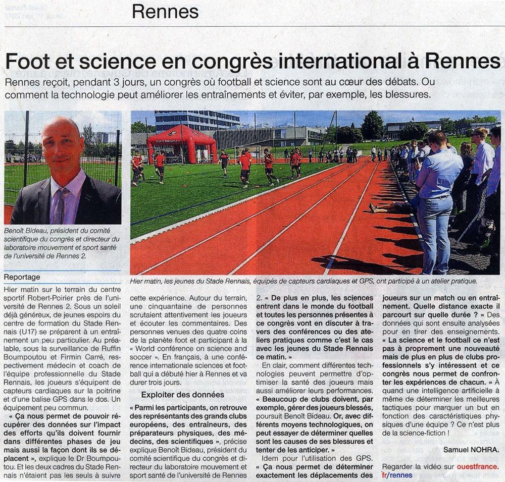 Foot & sciences - Ouest-France